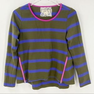 ANTHROPOLOGIE LILIS CLOSET Striped Top Small